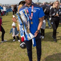 Portsmouth FC SkyBet League Two Championship celebration May 07, 2017